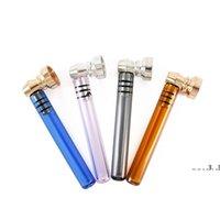 93 * 26mm Mini Tuyaux fumeurs avec affichage Fumer Métal Tuyau Main Tabac Mélange de tuyaux de tuyau de tabac de fumée Accessoire EWF5578
