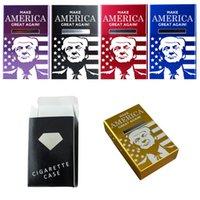 Kreative Zigarettenetui Trump Machen Sie Amerika große Aluminiumlegierung Clamshell Magnet Zigarettenabdeckung
