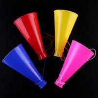 10 stks Noise Maker Horn Plastic Trompet Luidspreker Speelgoed Kleurrijke Juichen voor School Sport Verjaardag Party Geassorteerde Kleur