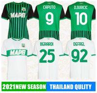 2021 Caputo Sassuolo Soccer Jerseys Traore Muldur Berardi Traore Djuricic Shirt de football m.Lopez Boga Defrel Locatelli Riccibiang
