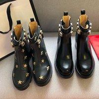 2021 Top Designer Designer Boots Martin Desert Boot Flamingos Amore freccia 100% Vera Medaglia in pelle Real Groarse antiscivolo Scarpe invernali taglia US5-11