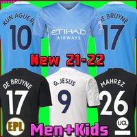 20 21 manchester futbol forması 2020 2021 CITY STERLING futbol forması KUN AGUERO DE BRUYNE GESUS BERNARDO MAHREZ RODRIGO FODEN erkekler çocuk kitleri setleri camisetas de futbol