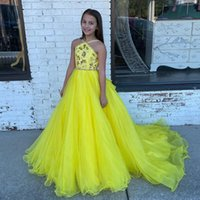 2022 Baby Girl's Special Occasion Wear Dresses with Hot Drill Toddler Pageant Party Gowns Zipper Back Organza Princess Flower Girls' Formal Dress