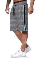 Men Casual Striped Shorts Summer Mens Elastic Waist Jogger Shorts Streetwear Plaid Pants