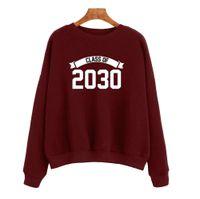 2030 Kadın Alfabe Sınıfı Baskılı Uzun Kollu Kazak YY0012