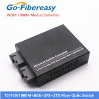 Gigabit Fiber Optic Media Converter 1000 Mbps Single-Mode Bidi 2FX + 2TX 20km Faseroptische Transceiver-Konverter-Faserausrüstungen