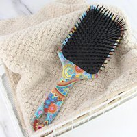 Hair Brushes 2021 Pattern Printing Nylon Care Comb Anti-static Hairdressing Massage Cushion For Ladies And Men