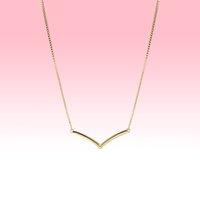 Regalo di nozze delle donne della collana delle donne della collana lucidata placcata in oro giallo per la collane della catena di argento sterling di Pandora con la scatola originale