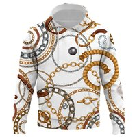 Men's Hoodies & Sweatshirts Fashion Luxury High-end Chain Pattern 3D Print Hoodeds Sweatshirt Hoodie Fall Spring Casual Hooded Pullover Clot