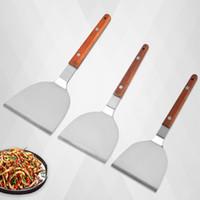 Edelstahl Eisenplatte Brennen und Bratschaufel Mehrzwecksteak Hand Greifen Kuchen Schaufeln Restaurant Küche