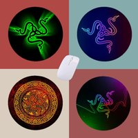 Mouse Pads & Wrist Rests Razer Round Pad Gamer PC Completo Computer Keyboard Small Carpet Non-Slip Rubber Gaming Accessories Desk Mat CSGO M