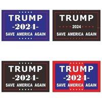 2024 ترامب ملصقات الانتخابات الرئاسية الأمريكية الأزياء ذاتية اللصق خطابات المطبوعة مصغرة ملصقا المنزل نافذة الوجه سيارة الثلاجة owd9355