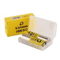 Listman imr 18650 3000mAH 40A 3.7V bateria recarregável de alto dreno para 510 thread box mod