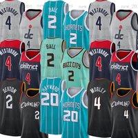 """샬럿 """"호넷""""저지 Evan Lamelo Mobley Ball Washington """"마법사""""저지 클리블랜드 """"Cavaliers""""농구 Gordon 20 Hayward Collin 2 Sexton"""