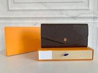 Designer di alta qualità originale Designer Designer Designer Portafoglio Donna Fashion Wakets Monogrames Sarah Flip Long Busta Busta Zipper Coin Borse con Box Dust Bag