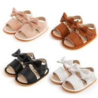 Yenidoğan Bebek Kız Sandalet İlk Walkers Güzel Yumuşak Kaymaz Kauçuk Taban Bebek Yaz Moda Ayakkabı Toddler Rahat Yürüyüş Ayakkabı Prenses
