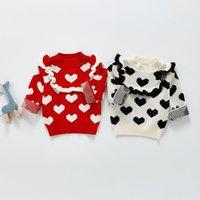 Jersey Milancel 2021 Spring Girls suéter lindo manga larga o-cuello amor ropa casual