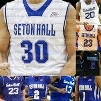 Benutzerdefinierte Seton Hall Basketball Trikots Mamukelashvili Myles Powell McKnight Jared Rhoden Reynolds Romaro Gill Ike Obiagu Anthony