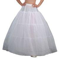 Damen Braut 3 Reifen Maxi-Länge Petticoat Kordelzug-Taillenbund Multi-Layer Ballkleid Brautkleider Trubel Crinoline Unterkirt