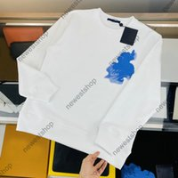 21SS PARIS Designer Hoody Herren Frauen Blauer Himmel Weiße Wolken Gradienten Print Hoodies Casual Hohe Qualität Mode Straße Luxurys Brief Druck Sweatershirt