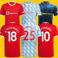 Manchester united Rashford Greenwood Martial Soccer Jerseys Cavani Man 2020 2021 UTD Fernandes 4xl Camisa de Fútbol 20 21 Hombres + Kit Kids