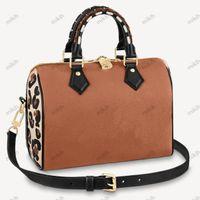 أزياء سيدة حقيبة الوسائد المرأة حقائب اليد أكياس تنقش شعار تصميم ليوبارد طباعة 30 سنتيمتر جودة عالية حقيبة يد محفظة