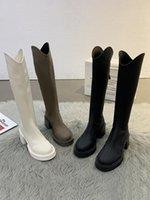 Boots Women 2021 Sexy Thigh High Heels Shoes Round Toe Back Zip Luxury Designer Zipper Over-the-Knee Stiletto Ladi