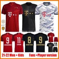 Bayern Lewandowski Futebol Jerseys Jerseys Versão do jogador 21 22 Sane Munique Coman Muller Davies Homens Kits Kits Jersey2021 2022 Camiseta Camisa de Futebol Futebol Camisa