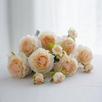 Fleurs décoratives couronnes spot simulation double tête lotus ornement faux fleur décoration maison chambre maison