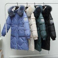 Women's Down & Parkas Women Winter Bright Waterproof Jacket 2021 Thick Cotton Warm Coats Korean Streetwear Hooded Long
