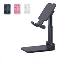Foldable Alloy metal Phone Holder Bracket Mobile Adjustable Flexible Desk Stand Compatiable For Smartphone iPhone Samsung tablet PC