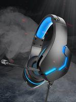 Проводные наушники с микрофоном для ноутбуков Игры PC Xbox One PS4 / 5 Контроллер Управляющий шумоподавление Игровая гарнитура Светодиодный свет