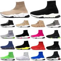 أحذية جورب جرافيتي للرجال والنساء أحذية رياضية غير رسمية ثلاثية أسود بيج لامع موضة نعل شفاف أحذية رياضية للرجال منصة أحذية