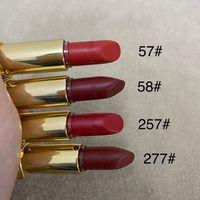 New Quality metal tube brand Lion head lipstick Rouge Lure velvet 4 colors