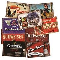 Home Dekorative Wand Plaque Vintage Eisen Schönheit Metall Plaque Shabby Chic Bier Logo Metall Zinnzeichen