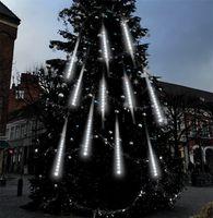 방수 3 색 EU 플러그 화환 8 튜브 LED 유성 샤워 비 문자열 빛 50cm 30cm 고드름 강설량 크리스마스 장식 746 K2