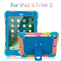 Masa Durumda iPad 9.7 \ Hava 2 Moda Taze Renk Dondurma Mavi Darbeye Şık Şık Uygun Ortak