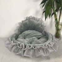 Princesa cão cama sofá macio para cães pequenos rosa lace cachorro casal pet doggy teddy cama de cama gato camas de cão ninho esteira canis 682 k2