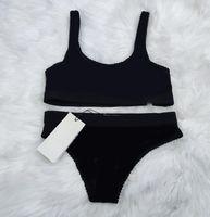 Nova chegada verão sexy dois peças biquíni para mulheres maiô com letras perspectiva de moda quente Swimwear senhora de banho 3 estilos s-xl