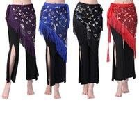 Stage Wear Lady Women Belly Dance Hip Scarf Belt Sequins Tassels Wrap Bellydance Skirt Waist Chain Costume Accessories