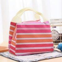 حار قماش شريطية نزهة الغداء مشروب الحرارية معزول برودة حقيبة حمل 450 ملليلتر المحمولة حمل حالة الغداء مربع 5 ألوان EWE5151