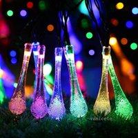 버블 워터 드롭 LED 태양 램프 문자열 크리스탈 램프 안뜰 파티 장식 조명 정원 축제 야외 빛 T2I52694