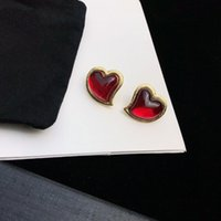 High Quality lady letter Stud Jewelry Mini Luxury Ear Studs for women Jewelry red Earring Designer Metal Design imitation Earrings Lover Earing womens Gift Earing