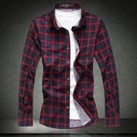 남자 캐주얼 셔츠 격자 무늬 남성 좋은 품질 2021 패션 7xl 큰 크기 남성 긴 소매 체크 무늬 m-4xl 5xl 6xl # 9720