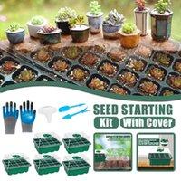 Planters & Pots Plant Pot Seed Starter Tray Kit 9 Set Seedling Trays With Humidity Adjus Garden Accessories De Jardin