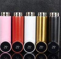 New Fashion Smart Mug Temperatura Display Vuoto Acciaio inossidabile Bottiglia d'acqua Bollitore Bollitore THERMO con tazza di regalo touch screen LCD 124 V2