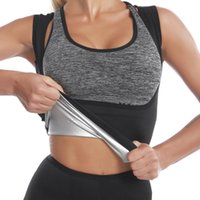 Women's Shapers Women Waist Trainer Corset Weight Loss Slimming Shirt Silver Coating Sauna Sweat Vest Workout Body Shaper Tank Top Shapewear