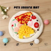 Dog Toys Chews Snuffle Pad Pets Sniffing Mat Sleeping Bed Interactive Intelligence Training Puzzle Snacks Dispenser Pads Round Washable Treats Feeding Indoors