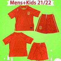 Kit Kids 2021 2022 China Futebol Jerseys Boys Sets National Team 20 21 22 Homens Casa Red Away Branco Criança Terno Futebol Camisas Terceiro Black Dragon Uniformes Chinês