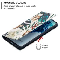 Lüks Deri E Çevirme Boyalı Durumda S21 Fe Galaxy S20 Samsung S10 Telefon Notu 20 Ultra Artı Manyetik Kart Tutucu Cüzdan Kapak IFNSF
